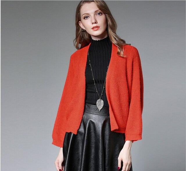 Wool Sweater Cardigan Women Oversized2017 Female Knit Cardigan
