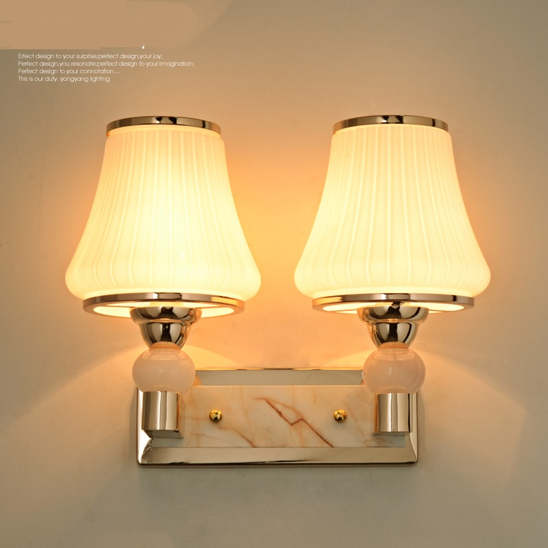 New creative 1/2 HEADS wall lamp bedside bedroom living room aisle modern dormitory balcony lighting wall light ZA1124537 modern lamp trophy wall lamp wall lamp bed lighting bedside wall lamp