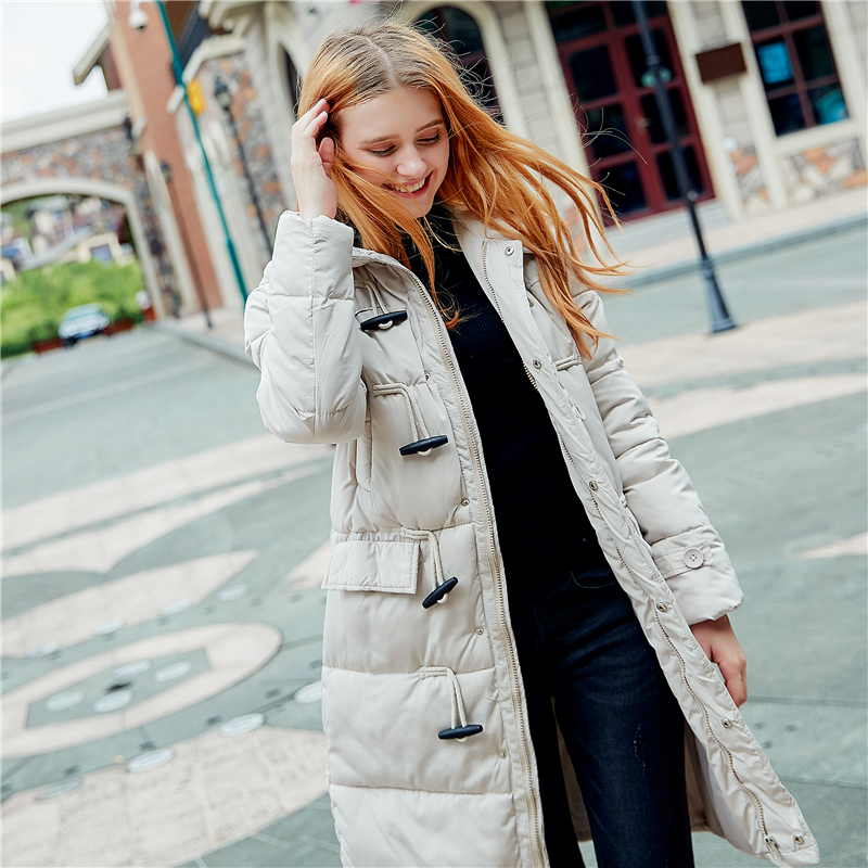 Women's Winter Cotton Padded Jackets Slim Coat Students Girl Pattern Printed   Parka   Warm Long Jacket Hooded Overcoat Female   Parka