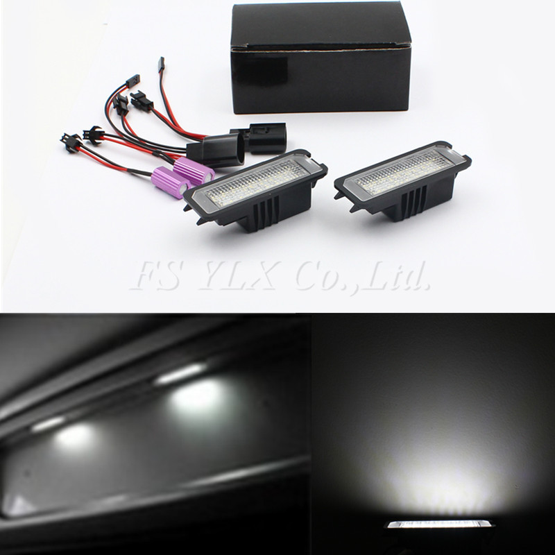 FSYLX canbus LED Number License Plate light for vw Golf 5 Golf 6 no error LED License plate light for Porsche Cayenne 2011-2013 2 pairs canbus no error auto led license plate lamp car number lights for chevrolet canbus cruze all cars 09