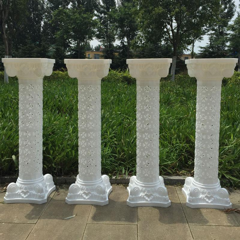 Stilul european 98 cm Înălțime Alb Upscale Plastic Hollow Roman - Produse pentru sărbători și petreceri