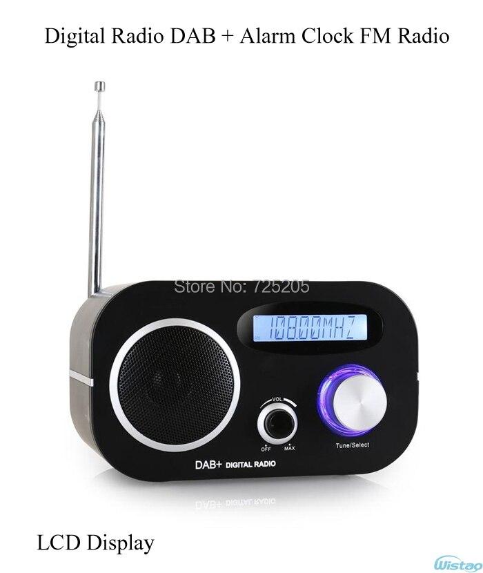 DAB + Radio Numérique Réveil FM Radio Automatique D'affichage à CRISTAUX LIQUIDES Recherche Station Date et Heure Display1.5W RMS Livraison Gratuite