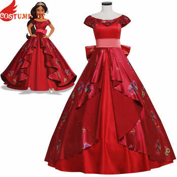 Costumebuy Elena of Avalor Princess Elena cosplay costume Red Ball Gown Women disfraz mujer Party Halloween Fancy dress - DISCOUNT ITEM  25% OFF All Category