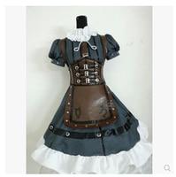 2016 Cosplay Alice Madness Returns Alice Steam Women S Dress Maid Costume Apron Dress Lolita Skirt