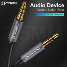 CoolReall 3.5 Audio Cable Jack 3.5mm Speaker Line Aux Cable for iPhone 6s Samsung Huawei Car Headphone Xiaomi Redmi Audio Jack(China)
