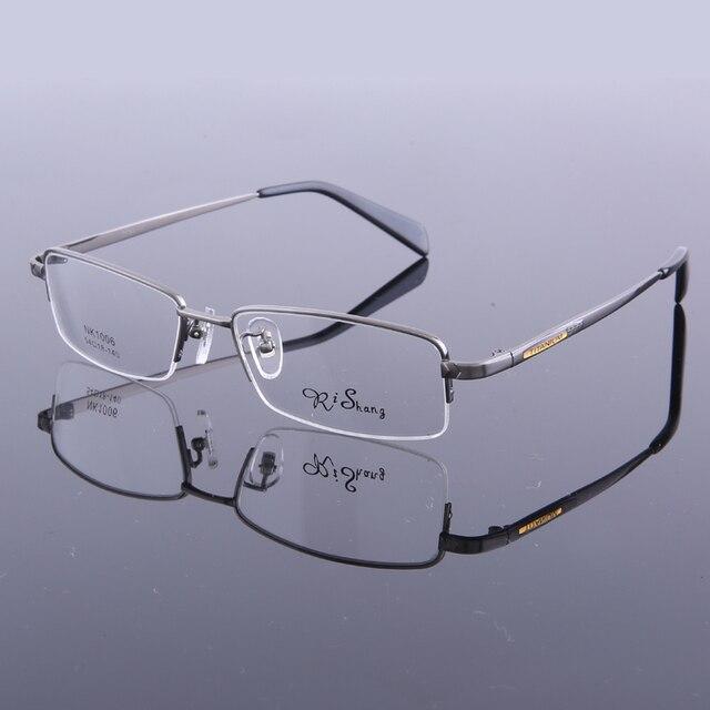 Nuevos marcos de anteojos de los hombres la mitad sin rebordes titanium monturas de gafas de marca de moda gafas de grau rs-1006