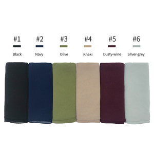 Image 2 - High quality plain crepe chiffon hijab scarf gorgeous solid muslim scarfs natural pleated scarves hot sale maxi hijabs