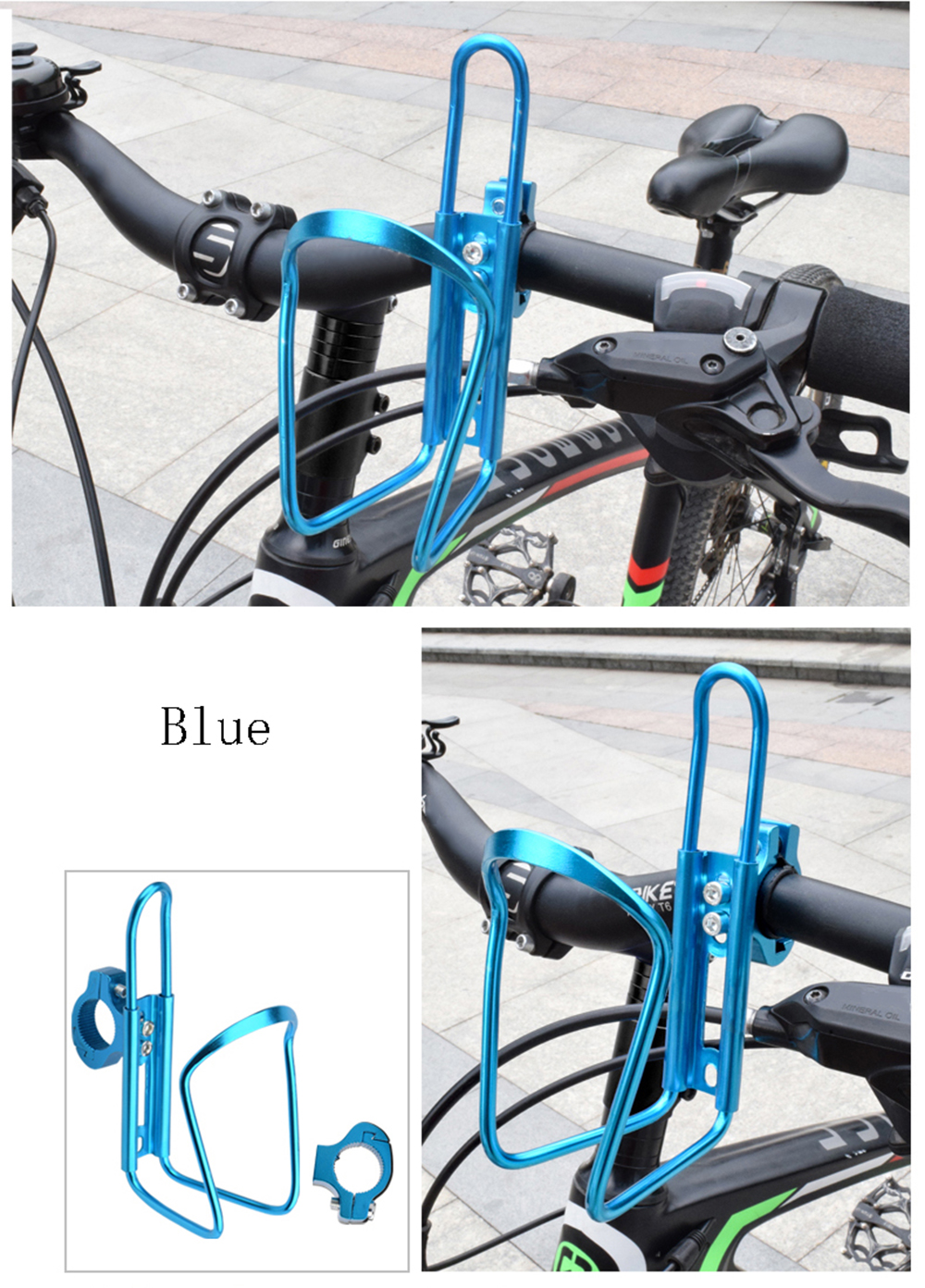 Dropship 1pc Aluminum Mountain Bicycle Double Water Bottle Holder Cage Rack Cycling Drinks Holder Outdoor Riding Drink Holder 2