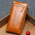 New Arrival Women's Purse Genuine Leather Wallets For Woman Large Space clutch bag Oil Wax Cowhide handbag Long Wallets women
