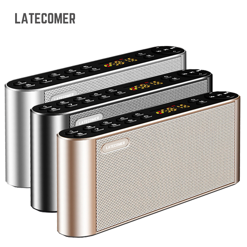 Latecomer Q8 New Bluetooth Portable Speaker High-definition dual Wireless speakers with Mic TF FM Radio Loudspeakers Sound Box image