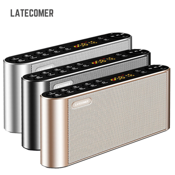 Latecomer Q8 New Bluetooth Speaker High-definition dual Portable Wireless speakers with Mic TF FM Radio Loudspeakers Sound Box image