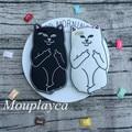 Мягкие силиконовые оболочки для iphone 4 4s 5 5s SE 6 6 s plus 7 плюс телефон случаях Мультфильм Симпатичные 3D средний палец модель кошка задняя крышка случае