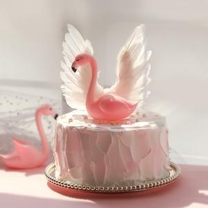 Image 2 - מלאך כנפי דגל מחרוזת אור מלאך נר חתונה Cupcake עוגת צילינדר סט עבור מסיבת קישוט עוגת יום הולדת דגלי אפיית דקור