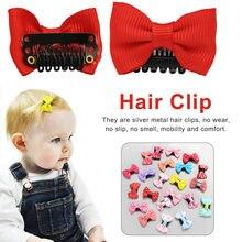 10 unids/pack bebé niñas cabello escaso Clips horquilla con lazo Niño Accesorios para el pelo de niños mini clip de pelo