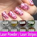 Laser Powder Glitter Powder Nail Art Decoration PVC Hexagon Shimmer Small Big Glitter UV Gel Acrylic Shining Craft Silver Golden