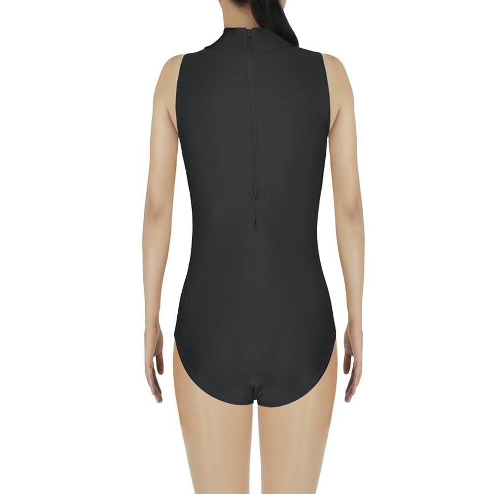 women sleeveless leotard