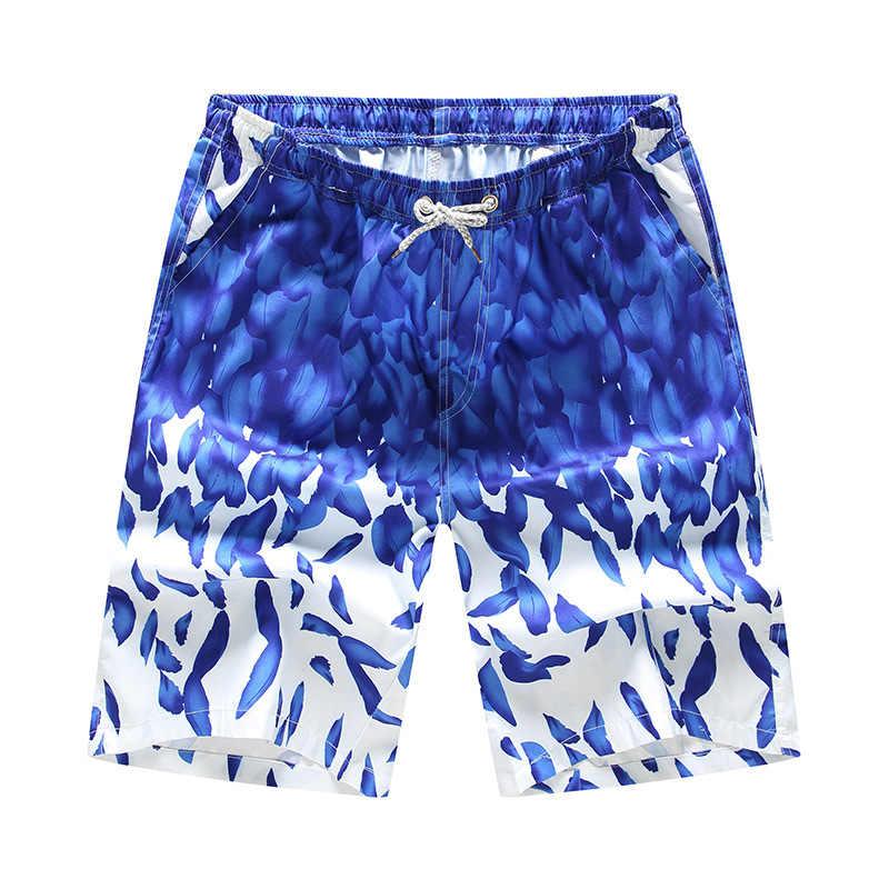 Мужские пляжные шорты с принтом быстросохнущая одежда для плавания купальный костюм плавки шорты для серфинга шорты для бега пляжные шорты больших размеров