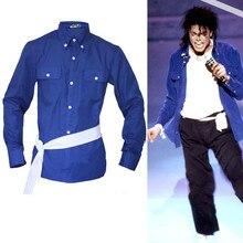 MJ Майкл Джексон the way you make me feel синяя рубашка proformance коллекция