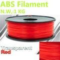 Transparent rot filament 1 kg abs filament 1 75mm PinRui marke 3d drucker abs kunststoff filamento abs 375 mt 3d drucker stift draht-in 3D Druck-Materialien aus Computer und Büro bei