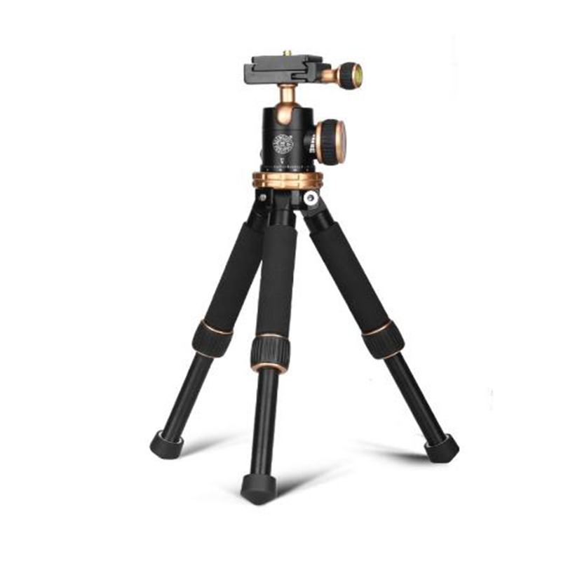 QZSD Q166Z Lightweight Aluminum Alloy Travel Mini Tripod with Ball Head for DSLR Camera Camcorder-in Live Tripods from Consumer Electronics    1
