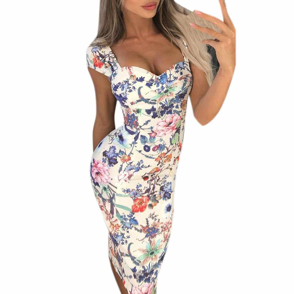 Vestidos 2019 女性のドレス春夏ドレスセクシーなレディース多色パイントパーティーファッションドレス休日のドレス