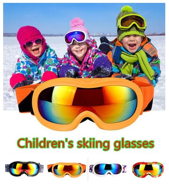 Prix pour Enfants Double couche de Ski Lunettes UV400 Anti-brouillard Lunettes de Ski de Neige Pour Filles Garçons D'hiver Enfants Grand Sphérique Ski lunettes