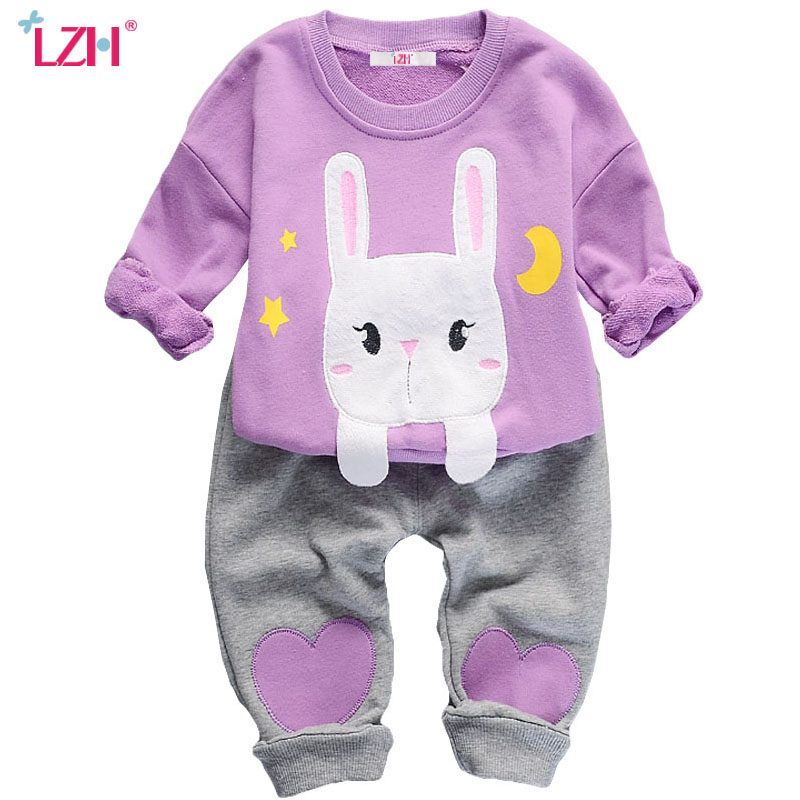 LZH Toddler Girl Clothing Sets 2017 Autumn Winter Kids Girls Clothes T-shirt+Pants 2pcs Christmas Suit For Girl Children Clothes agkupel toddler girls t shirt children clothing kids t shirt cartoon long sleeve autumn children t shirts for kids girl clothes
