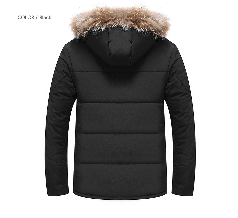 c73d98082 Winter Coat Men Plus Size Puffy Fur Collar Warm Park Padded Jacket Man  Puffer Quilted Fleece Jackets Man Thick Hooded Overcoat