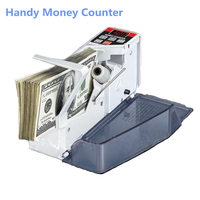 Mini Handy Bill Counter Money Counter Handy Bill Cash Registers Currency Counting Machine V40