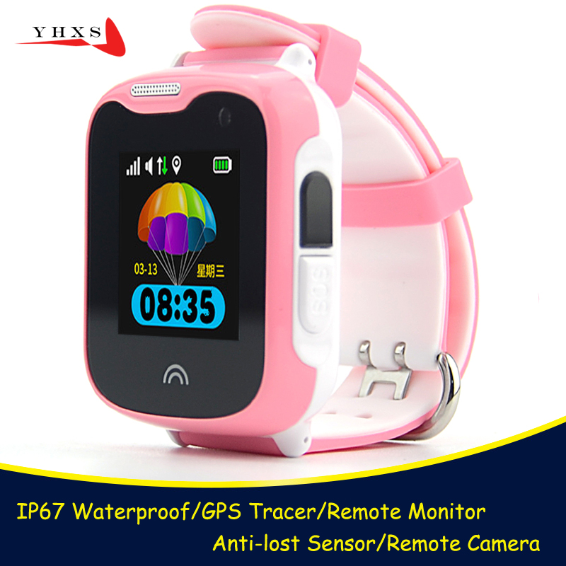 IP68 Wasserdichte <font><b>Smart</b></font> GPS LBS Finder Tracker Lage SOS Anruf Remote Kamera Monitor Anti-verloren Kinder Kind Telefon Armbanduhr uhr image
