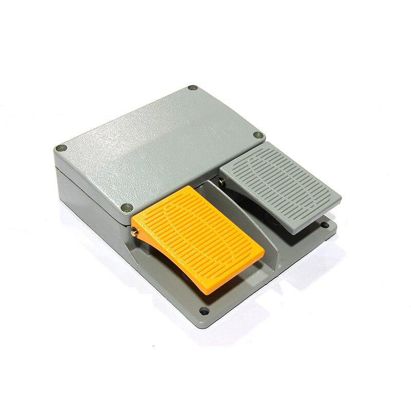 Commutateur actionné par industrie de livraison gratuite de YDT1-15S avec le bouton poussoir, commutateur de pédale de pied de double pédale d'infini