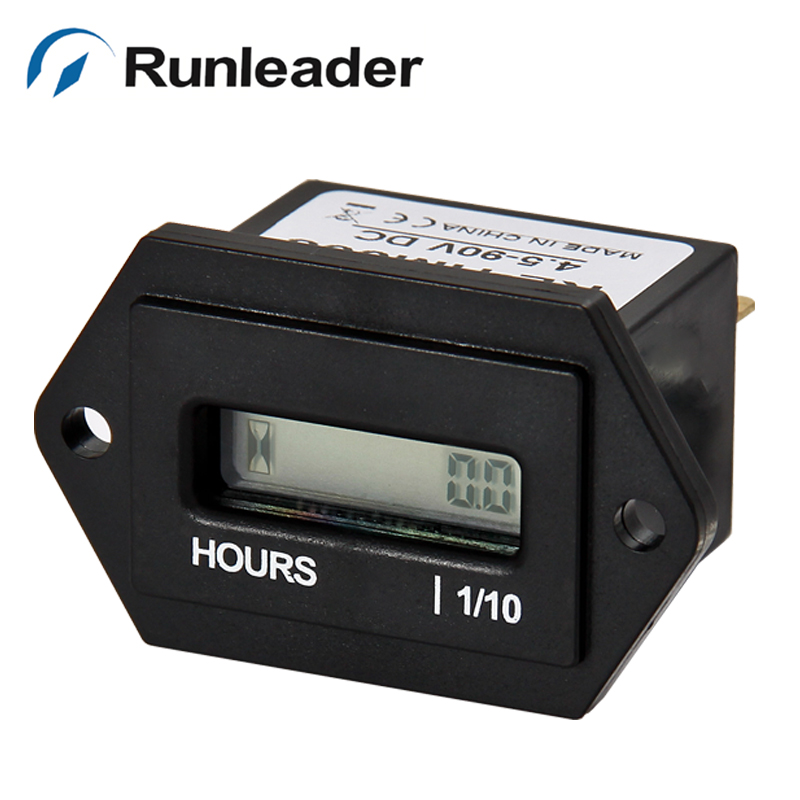 (20pcs/lot) Re-settable Digital Hour Meter Counter AC 86-230V Powered Meter For snowmobile chainsaw ATV jet ski marine carts