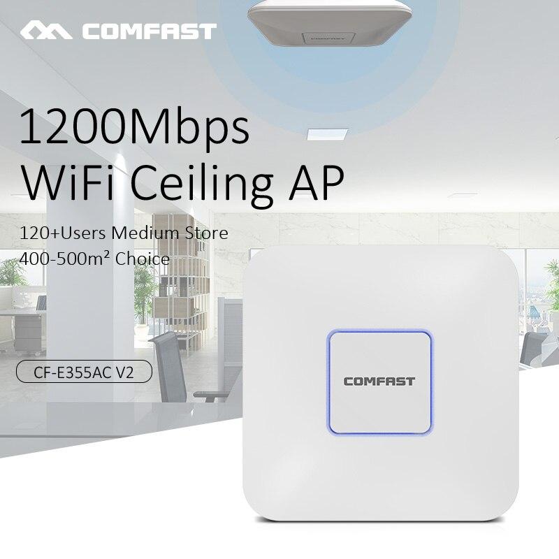 Routeur Wifi intérieur Comfast 2.4G + 5.8G répéteur Wifi double bande 1200 Mbps Point d'accès wi-fi plafond sans fil AP Extender CF-E355AC