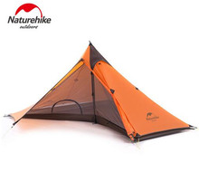 Naturehike 1 Person Camping Tent 20D Nylon 4 Season Backpacking Tent Ultralight Hiking Trekking Tents For Outdoor Sports Trip цена