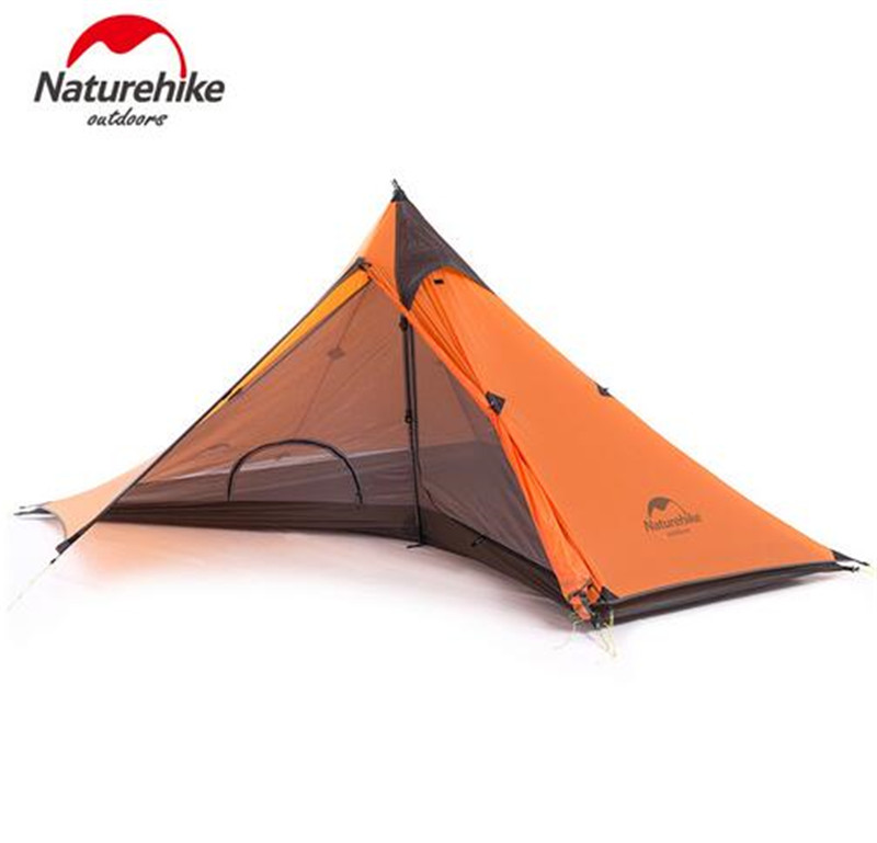 Naturehike 1 Person Camping Tent 20D Nylon 4 Season Backpacking Tent Ultralight Hiking Trekking Tents For Outdoor Sports Trip