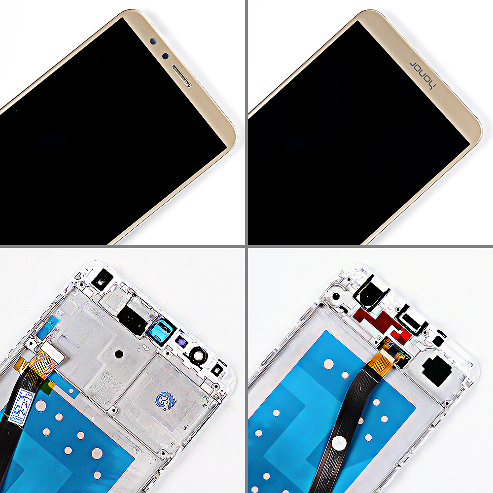 HTB1EPd3RZfpK1RjSZFOq6y6nFXaP Huawei Honor 7X BND-L21 BND-L22 BND-L24 5.93 inch LCD display For Mate SE Touch Screen Digitizer Assembly Frame With Free Tools