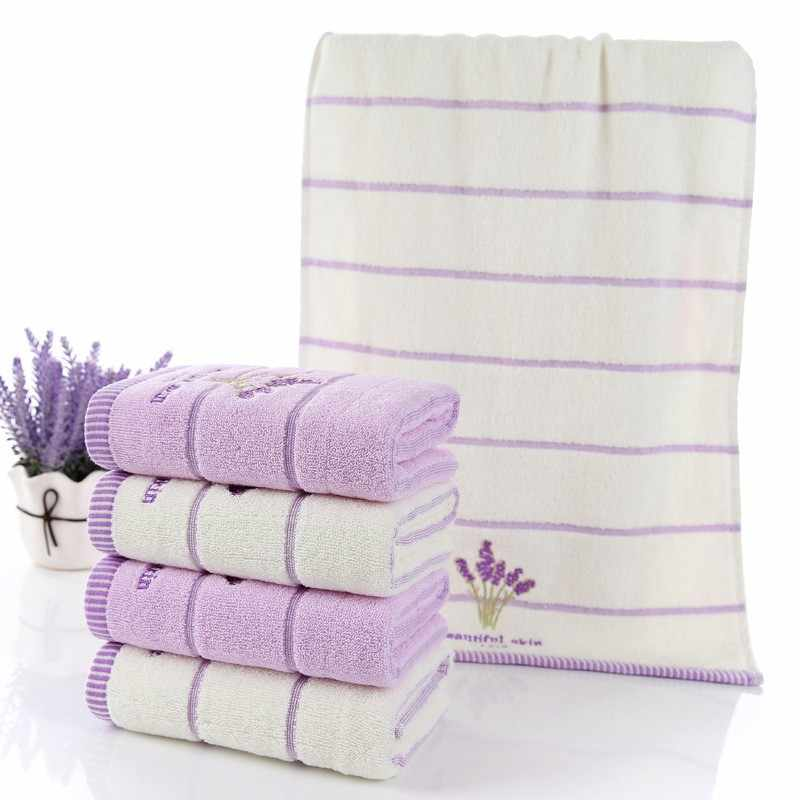 Nieuwe Hoge Kwaliteit Luxe Witte Lavendel Katoen Handdoek Set 1Pc Badhanddoeken Voor Volwassenen/Kinderen 2 Stuks gezicht Handdoek Voor Badkamer