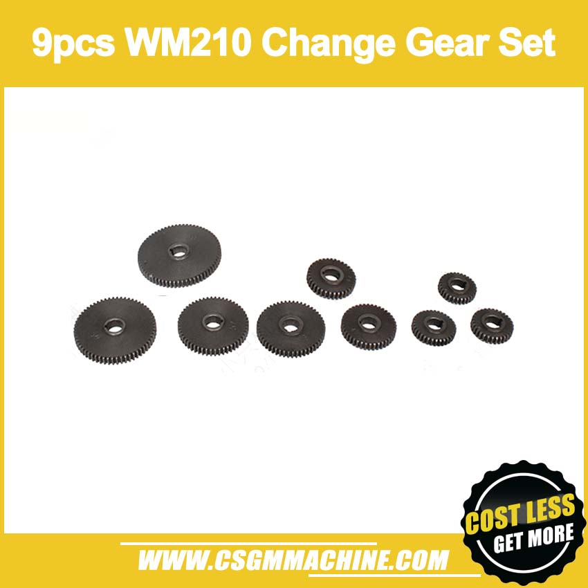 Free Shipping!/WM210-CS 9pcs Thread Cutting Kits/Metric Change Gear Set for WM210 Lathe MachineFree Shipping!/WM210-CS 9pcs Thread Cutting Kits/Metric Change Gear Set for WM210 Lathe Machine