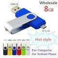 Real capacidade LOGO telefone Inteligente giratória Unidade Flash USB OTG Micro USB Flash Drive 32 GB 64 GB 128 GB 256 GB 512 GB Disco de U para telefone