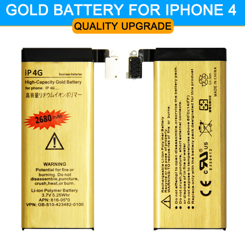 Hot sell Original ABV Gold High Quality 1420mAh Mobile phone battery for Apple iphone 4 iPhone4