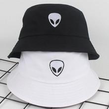 new Alien Bucket Hat Unisex Bob Caps Hip Hop Men women Summer Panama Cap Beach Fishing boonie black white Two sides hat