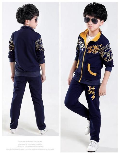 2016 новый Гарсон Марка дети и мальчики костюмы 5-14 летних детей в детской спортивной моды случайные хлопка свитер