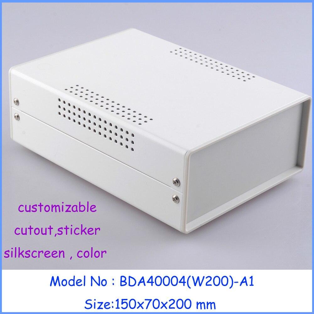 (1pcs )150x70x200mm industrial case electronics enclosure diy iron box for electronics box enclosures electronic metal box 5d diy 70 55