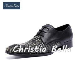 Christia Bella элегантные сапожки из натуральной кожи; кожаные туфли на плоской подошве Для мужчин встреча в офисе, Женская обувь в официальном