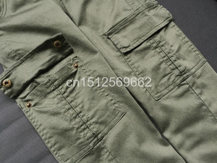 Army Green Jeans Women 14