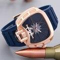Роскошные Часы Мужчины Известная Марка Резиновые Смотреть Золотой Браслет Военно-Спортивный Кварцевые Часы 3Bar Водонепроницаемые Часы Relógio Masculino