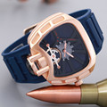 Luxury Watch Men Famous Brand Rubber Watch Gold Bracelet Military Sports Quartz Watch 3Bar Waterproof Clock Relogio Masculino