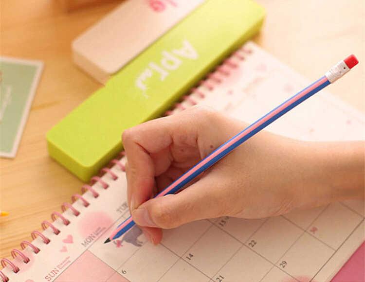 אלן ברוק 1 חתיכה קוריאני מכתבים חמוד צבעים בוהקים רך גמיש סטנדרטי עפרונות בית ספר אופנה ציוד משרדי