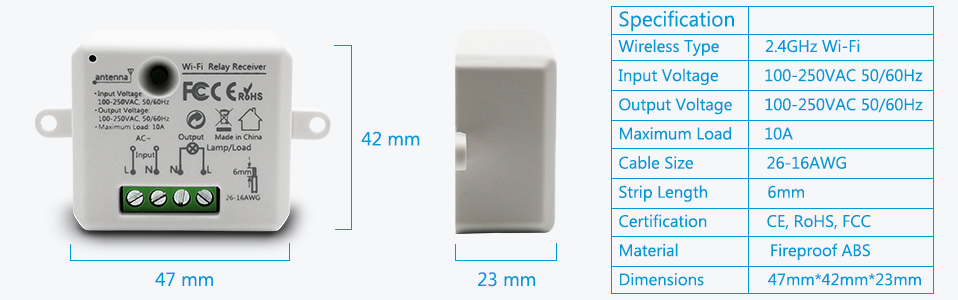 smart mini module dimensions and specification