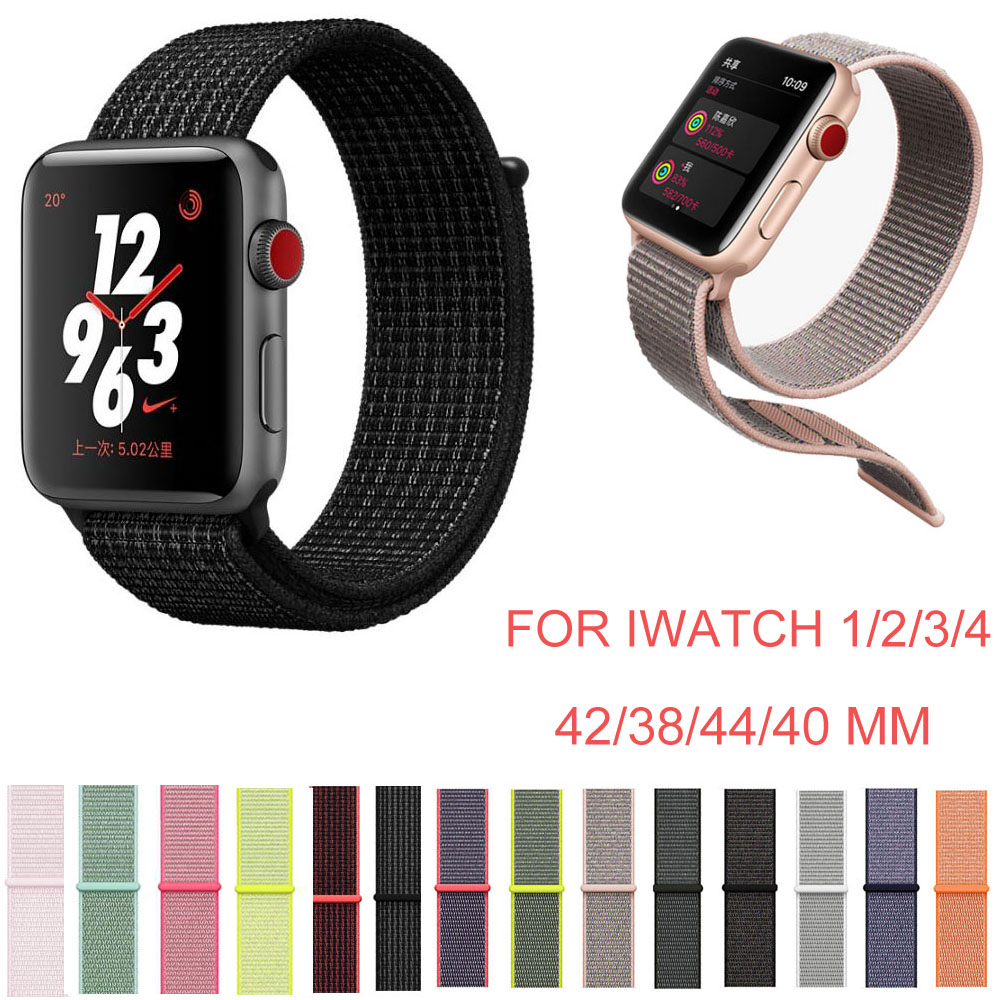 For Apple Watch Band 44mm 40mm 42mm 38mm Breathable Soft Nylon Strap for iWatch Series 4 3 2 1 Replacement Band Sport Loop Belt цены онлайн